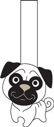 Pug Dog Puppet Print Art