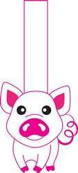 Pig Puppet Print Art