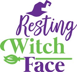 Resting Witch Face Print Art