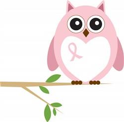 Cancer Awareness Owl Print Art