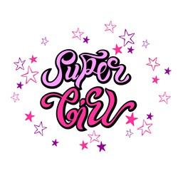 Super Girl Print Art