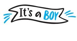 Its A Boy Print Art