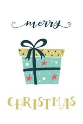 Merry Christmas Gift Print Art