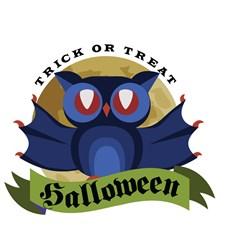 Halloween Owl Print Art