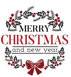 Merry Christmas Wreath Print Art