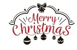 Merry Christmas Ornaments Print Art
