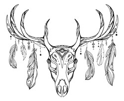 Tribal Deer Print Art