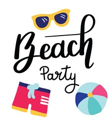Beach Party Print Art