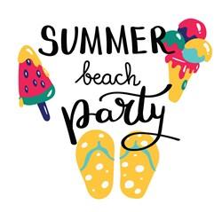 Summer Beach Party Print Art