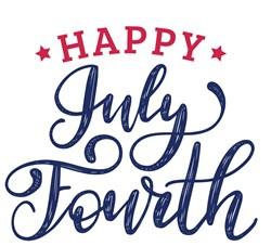 Happy July Fourth Print Art