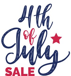 4th Of July Sale Print Art