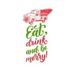 Eat Drink Be Merry Print Art