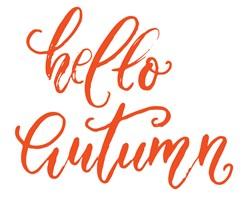 Hello Autumn Print Art