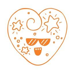 Star Heart Print Art