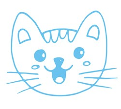 Cat Head Print Art