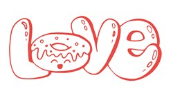 Love Donut Print Art