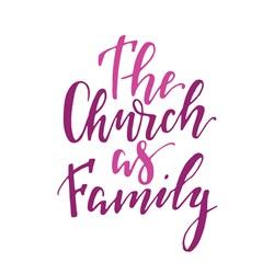 Church As Family Print Art
