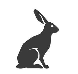Rabbit Silhouette Print Art