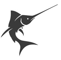 Swordfish Silhouette Print Art