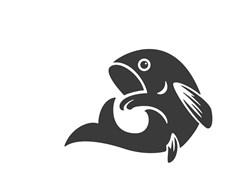 Fish Silhouette Print Art