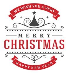 Very Merry Christmas Print Art