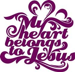 Heart Belongs To Jesus Print Art
