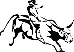 Bull Rider Print Art