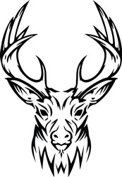 Stag Head Print Art