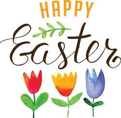 Happy Easter Tulips Print Art