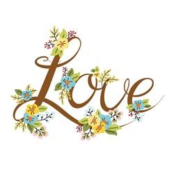 Love Flowers Print Art