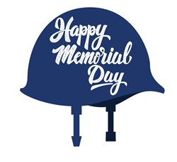 Memorial Day Helmet Print Art