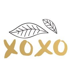 XOXO Leaves Print Art