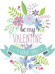 Be My Valentine Print Art