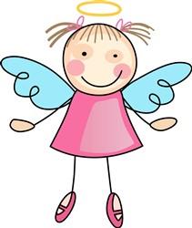 GIRL ANGEL Print Art
