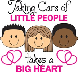 TAKING CARE OF LITTLE PEOPLE Print Art