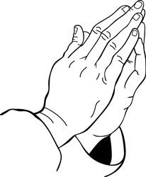 PRAYING HANDS Vector Illustration | AnnTheGran