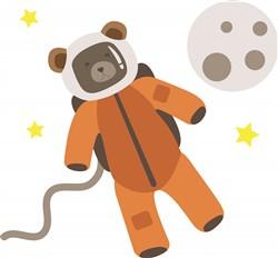 Astronaut Bear Print Art