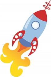Rocket Ship Print Art