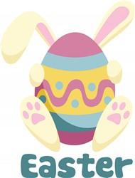 Easter Bunny Egg Print Art