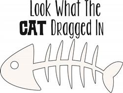 Cat Dragged In Print Art