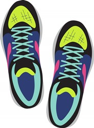 Running Shoes Print Art
