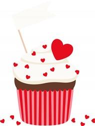 Valentine Cupcake Print Art