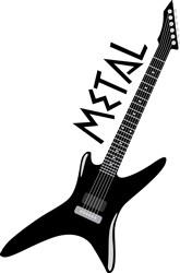 Metal Guitar Print Art