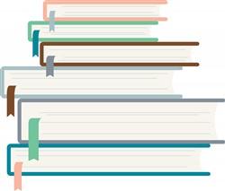 Stacked Books Print Art