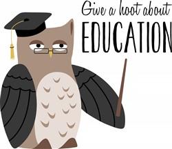 Education Owl Print Art