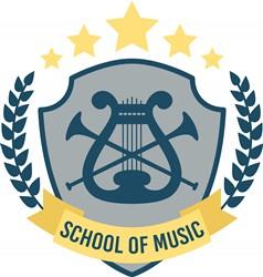 School Of Music Print Art