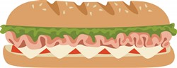 Sub Sandwich  Print Art