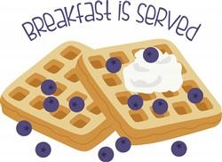 Breakfast Served Print Art