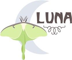 Luna Moon Moth Print Art