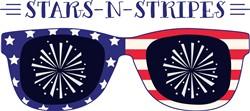 Stars N Stripes Sunglasses Print Art